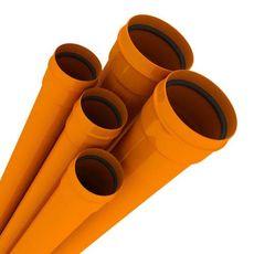 Труба канализационная ПВХ 160*1 м (3,2) MPLAST, Оранжевая, фото 1